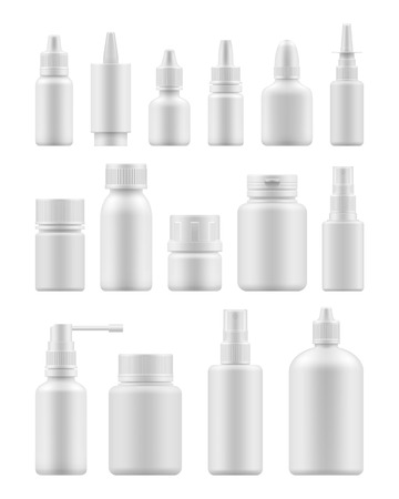 Blank template medical packaging Stock Illustratie