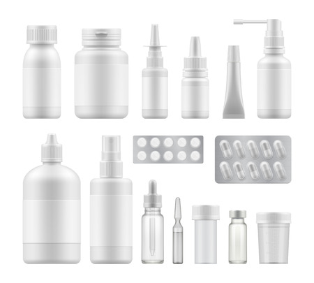blank pharmaceutical medical packaging