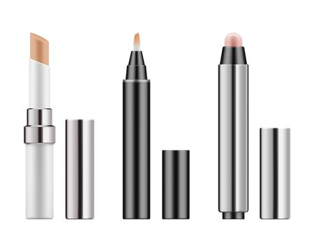 Collection 3d realistic corrective concealers