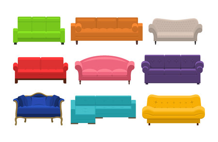 couches: Set of sofa, couches, settee