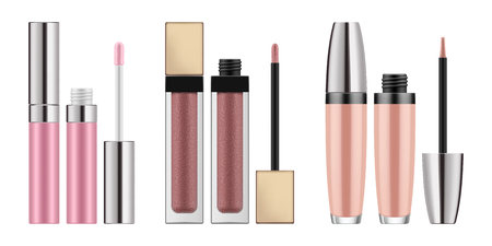 Mock-up of realistic lip gloss Illustration