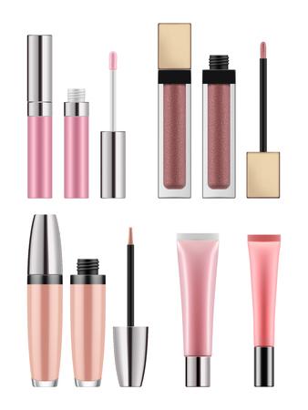 Mock-up of realistic lip gloss Vettoriali