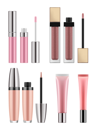 Mock-up of realistic lip gloss Stock Illustratie