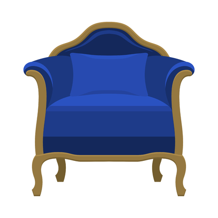 Vector armchair in flat style
