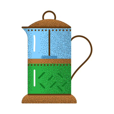 Tea icon retro texture. Illustration