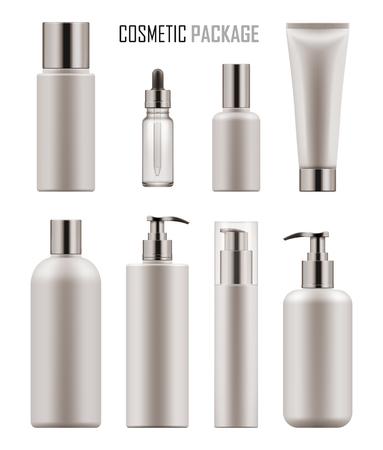 化粧品のパッケージ空白のテンプレートです。