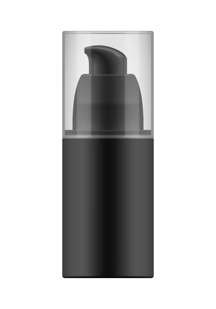 Realistic blank template of plastic bottle