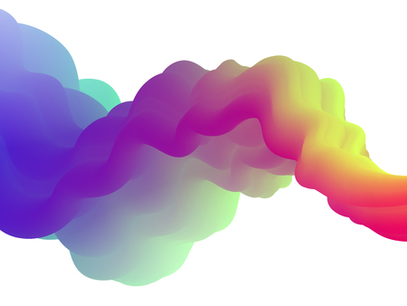 Abstract fluid holographic background Illustration