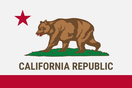Flag of California American state Vettoriali