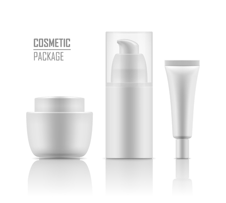 Mockup of packages for cosmetic.