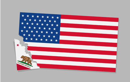 California is secede From USA. Illustration