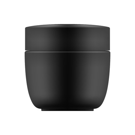paint container: Vector blank template of jar Illustration