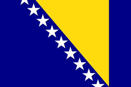 Flag of Bosnia and Herzegovina country.