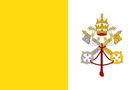 Bandiera dello Stato della Città del Vaticano. Vettoriali