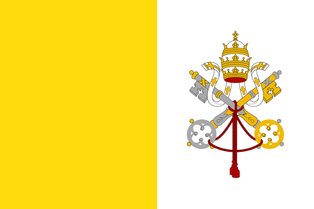 Flag of Vatican City State. Illustration