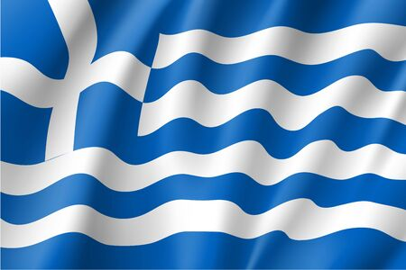 congress: National flag of Greece country. Illustration