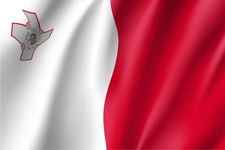 マルタ共和国の国旗。