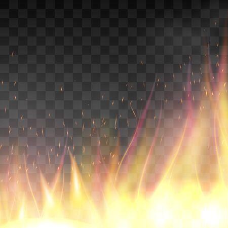 fiery: Vector realistic fiery design template.