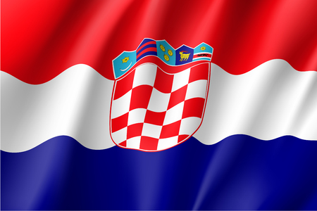 National flag of Croatia republic.