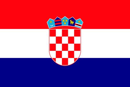 National flag of Croatia republic.