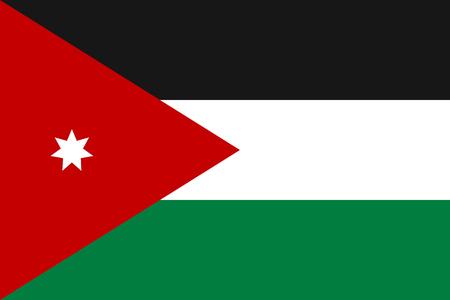 flag: Jordan national flag, vector illustration Illustration