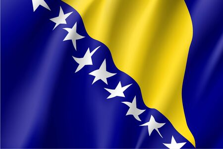 national identity: Flag of Bosnia and Herzegovina country.