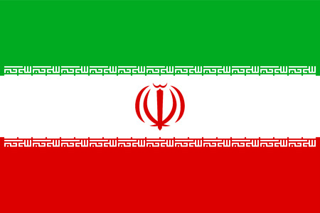 Iran national flag, vector illustration. 向量圖像