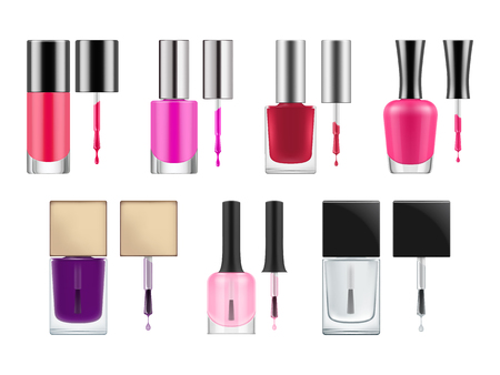 paint container: Vector packages for nail polish.