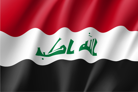 Iraq national flag, vector illustration