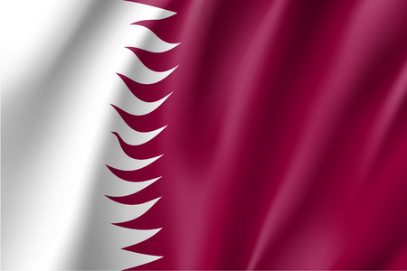 Qatar national flag, vector illustration