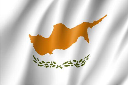 Waving flag of Republic of Cyprus Illustration
