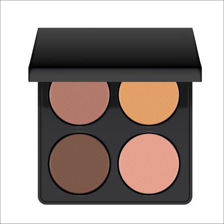Vector realistic nudes eyeshadow palette.