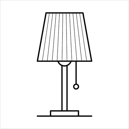 테이블 램프, 가정 가구 lineart 디자인, 인테리어 개념 일러스트