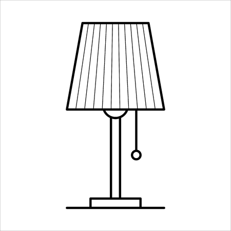 Table lamp, home furniture lineart design, interior concept