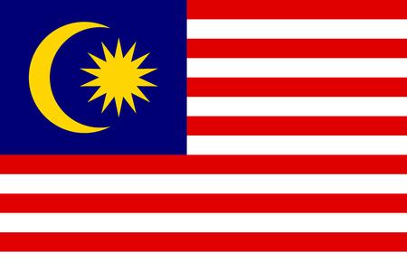 Vector national flag of Malaysia Illustration