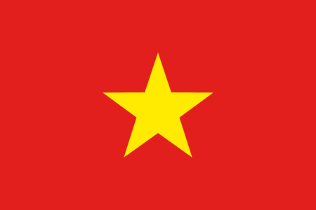 Flag of Socialist Republic of Vietnam. Illustration