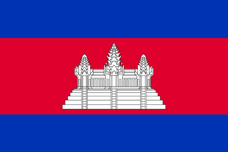 indochina peninsula: Flag of Kingdom of Cambodia.