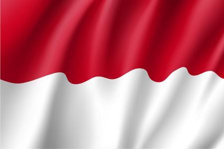 national flag indonesian flag: National flag of Indonesian Republic Illustration