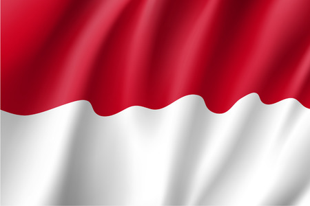 National flag of Indonesian Republic Illustration