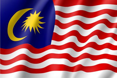 Vector national flag of Malaysia Illustration