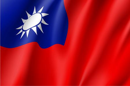 台湾の旗。ベクトル記号。