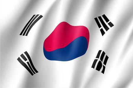 South Korea flag, vector flat style
