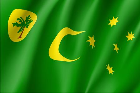 Flag of Cocos Keeling Islands. Illustration