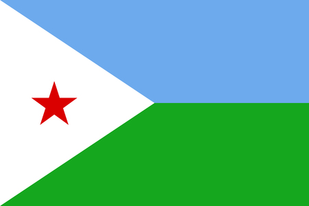 Vector national flag of Djibouti.