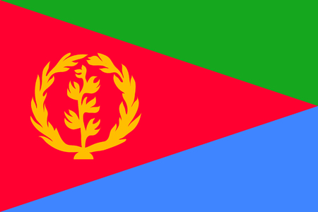 Vector national flag of Eritrea.