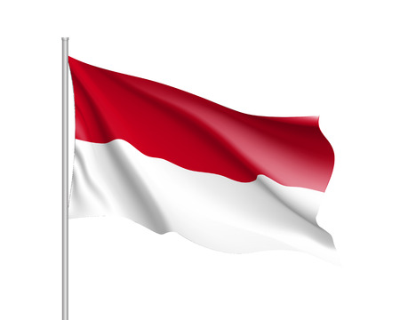 National flag of Indonesian Republic