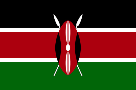 kenya: Vector national flag of Kenya.