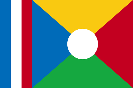 National flag of La Reunion.