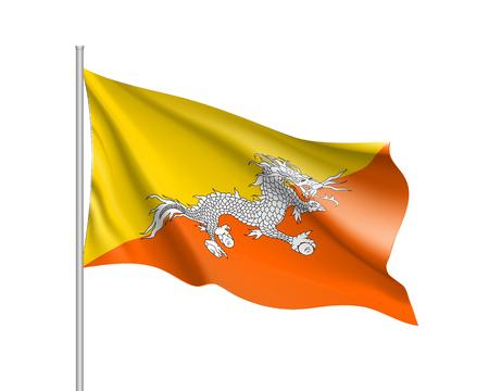 butane: Butane flag, vector flat style