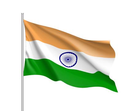 India flag, vector flat style